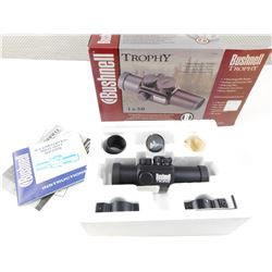 BUSHNELL TROPHY 1X30 RED DOT SCOPE WITH BOX AND INSTRUCTIONS