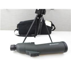 CELESTRON SPOTTING SCOPE WITH TRIPOD AND INSTRUCTIONS