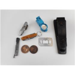 ASSORTED POCKET KNIVES, AND TOOLS