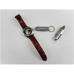POCKET KNIVES AND OPEN FACED WATCH