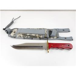 BOWIE KNIFE WITH NYLON SHEATH