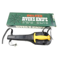 SEA FOX DELUXE DIVER'S KNIFE WITH SHEATH AND BOX