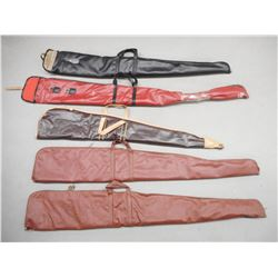 ASSORTED SOFT LEATHER RIFLE CASES