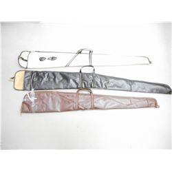 VINYL GUN CASES, BOX OF GUN CLEANING PATCHES