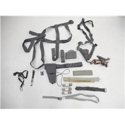 ASSORTED NYLON HOLSTERS, SLINGS AND POUCHES