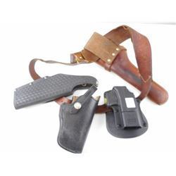 ASSORTED HOLSTERS WITH SLING