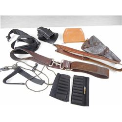 ASSORTED HOLSTERS, AND SLINGS
