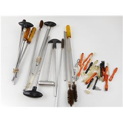 ASSORTED GUN CLEANING RODS AND JAGS