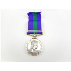 BRITISH NAMED GENERAL SERVICE MEDAL WITH RIBBON