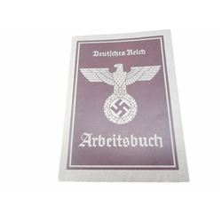"""WWII GERMAN """"ARBEITS BUCH"""" EMPLOYMENT/PAY BOOK"""