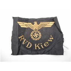 WWII GERMAN NATIONAL RAILWAY ARM BADGE