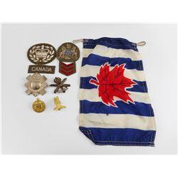 VINTAGE CANADIAN MILITARY CAP BADGES