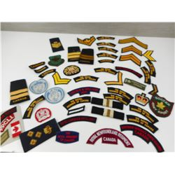 CANADIAN MILITARY BADGES, FLASHES, AND RANK'S