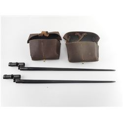 MOSIN NAGANT SPIKE BAYONETS AND STRIPPER CLIP POUCHES