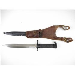 SWEDISH 1896 BAYONET WITH SCABBARD AND LEATHER FROG