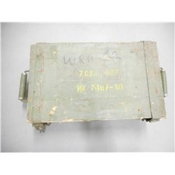 7.62X54 EMPTY WOODEN AMMO CRATE