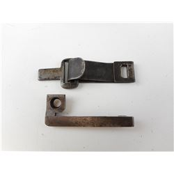 WWI GERMAN CLIP FOR A HELMET CHIN STRAP, AND A GERMAN 71-84 MAUSER SPRING