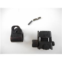 US M-1 CARBINE REAR SIGHT & FRONT SIGHT