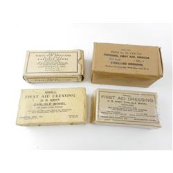 WWII US MILITARY CARLISLE FIRST AID  DRESSINGS