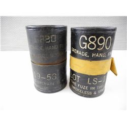 US MILITARY GRENADE CANISTERS