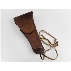 WWI US 1911 PISTOL HOLSTER WITH THONG AND BELT HOOKS