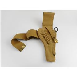 WWII CANADIAN TANKER HOLSTER WITH LEG STRAP & CLEANING ROD