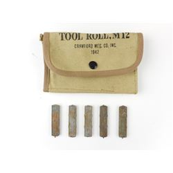 WWII US MILITARY POUCH AND STRIPPER CLIPS