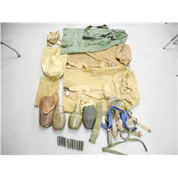 ASSORTED MILITARY RUCK SACKS, CANISTERS AND SLINGS