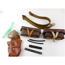 ASSORTED SKS AMMO POUCHES AND ACCESSORIES