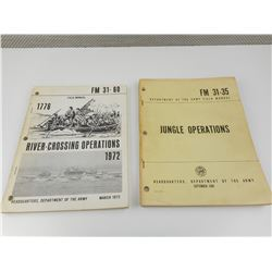 ASSORTED ARMY FIELD MANUALS