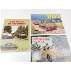 ASSORTED MILITARY VEHICLE BOOKS