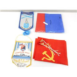 RUSSINA/SOVIET BLOC FLAG, AND PENNANTS