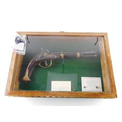 SHADOW BOX AND REPLICA PRUSSIAN DRAGOON PISTOL WITH CASE