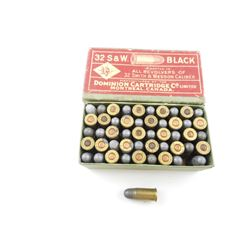 DOMINON 32 S&W BLACK POWDER CF AMMO