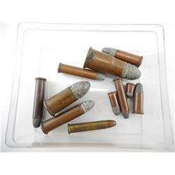 COLLECTIBLE AMMO INCLUDING 56-46 SPENCER RF, 44 HENRY RF, 32 SHORT RF, 25 LONG RF