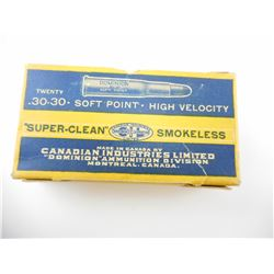 DOMINION .30-30 SUPER-CLEAN AMMO