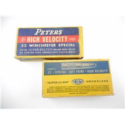 PETERS 32 WINCHESTER SPECIAL, DOMINION .32 SPL AMMO