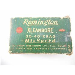 REMINGTON KLEANBORE 30-40 KRAG HI-SPEED AMMO
