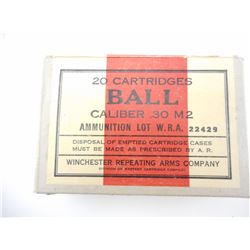WINCHESTER REPEATING ARMS .30 M2 CAL BALL AMMO