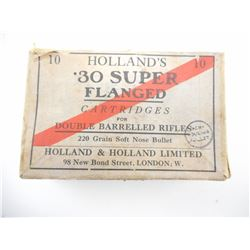 HOLLAND'S .30 SUPER FLANGED AMMO