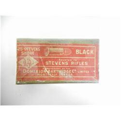 DOMINION 25 STEVENS SHORT BLACK AMMO