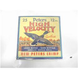 PETERS 12 GAUGE HIGH VELOCITY SHOTGUN SHELLS