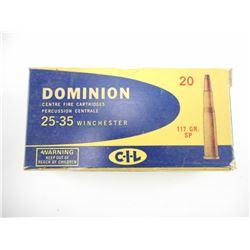 DOMINION 25-35 WINCHESTER AMMO