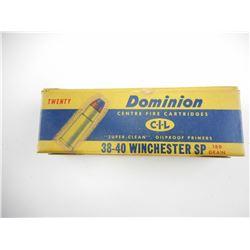 DOMINION 38-40 WINCHESTER SP AMMO