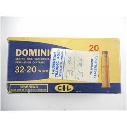 DOMINION 32-20 WINCHESTER AMMO