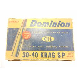 DOMINION 30-40 KRAG SP AMMO