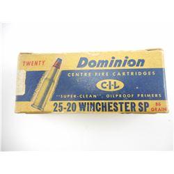 DOMINION 25-20 WINCHESTER SP AMMO
