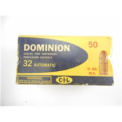 32 AUTOMATIC ASSORTED AMMO