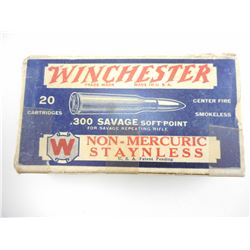 WINCHESTER .300 SAVAGE SOFT POINT AMMO