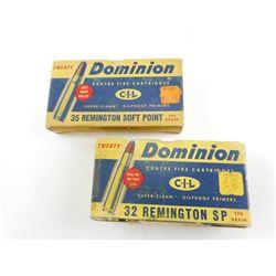 DOMINION 35 REMINGTON SOFT POINT, 32 REMINGTON SP